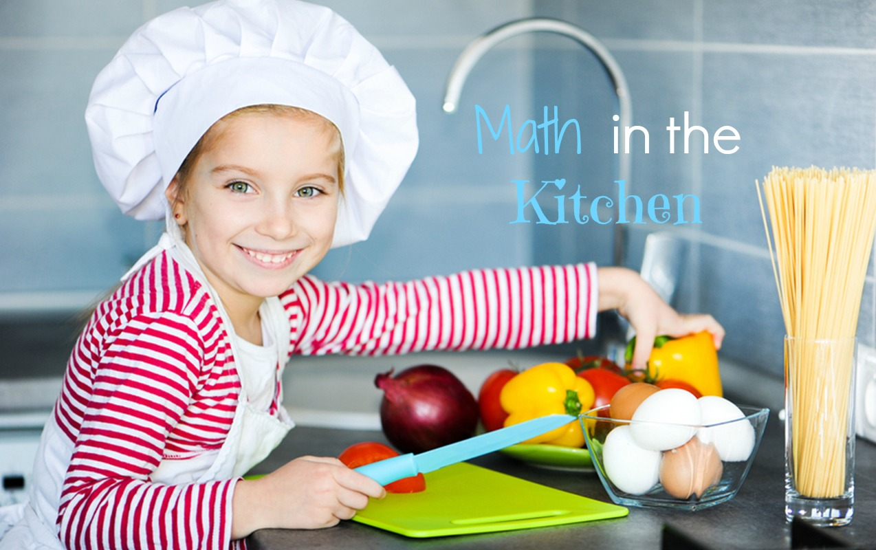 Math games in the Kitchen help children learn math facts, fractions and other math concepts.