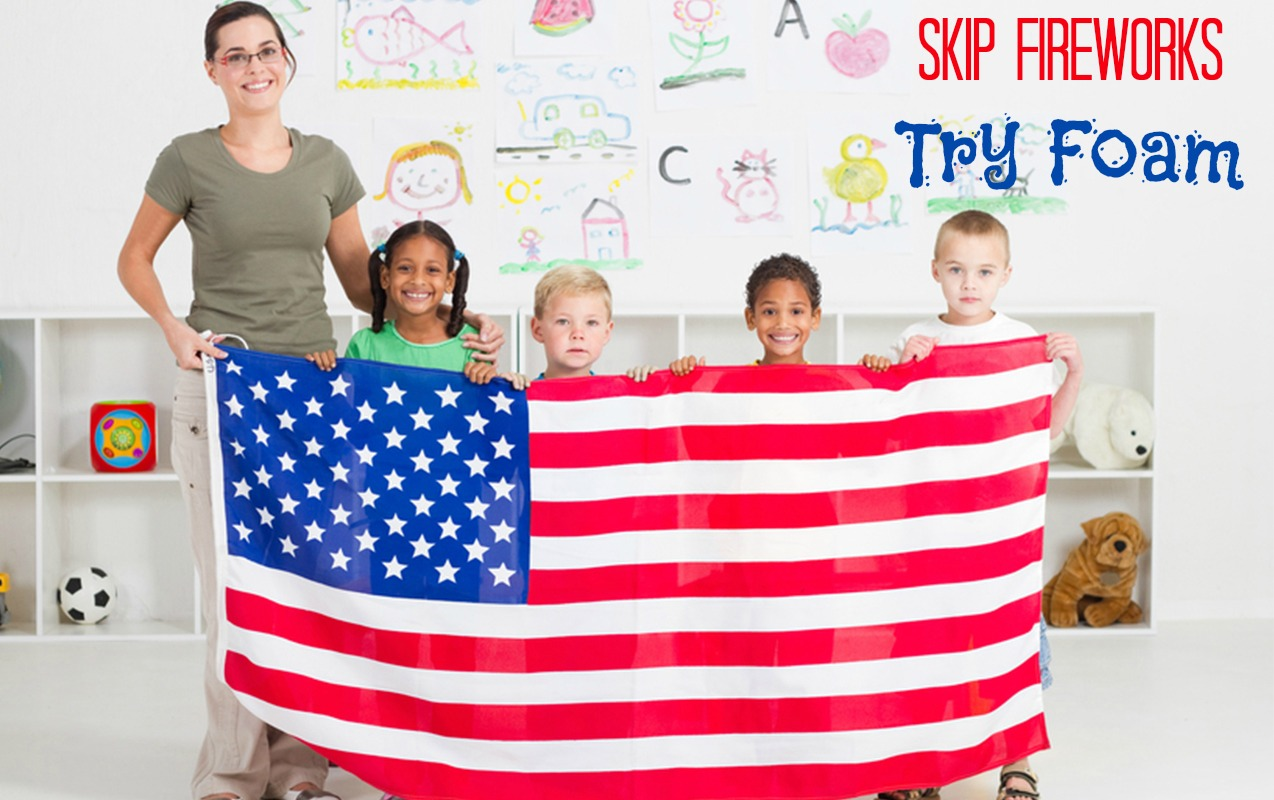 Patriotic Foam Sensory Activity to Go Out with a Bang
