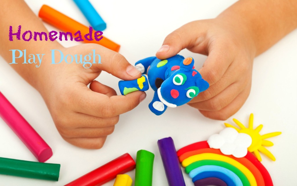 Easy and fun way to make your own play dough at home for your kids.