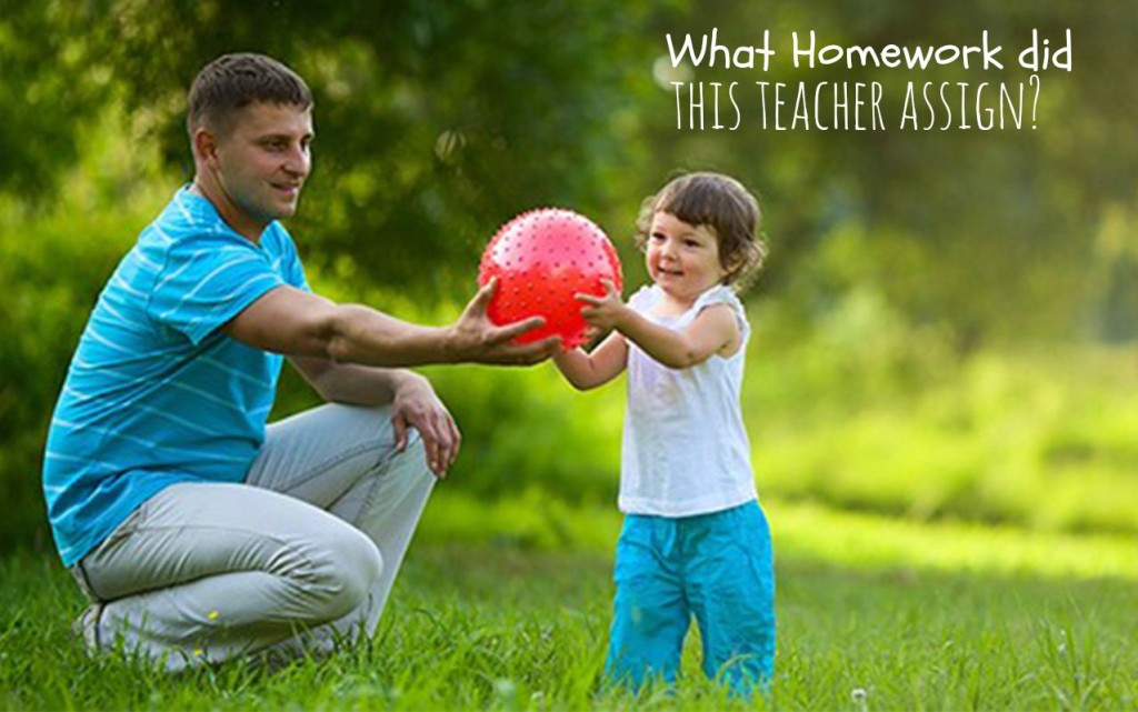 You won't believe what this teacher assigned for homework | ilslearningcorner.com #kidsactivities #kidsplay