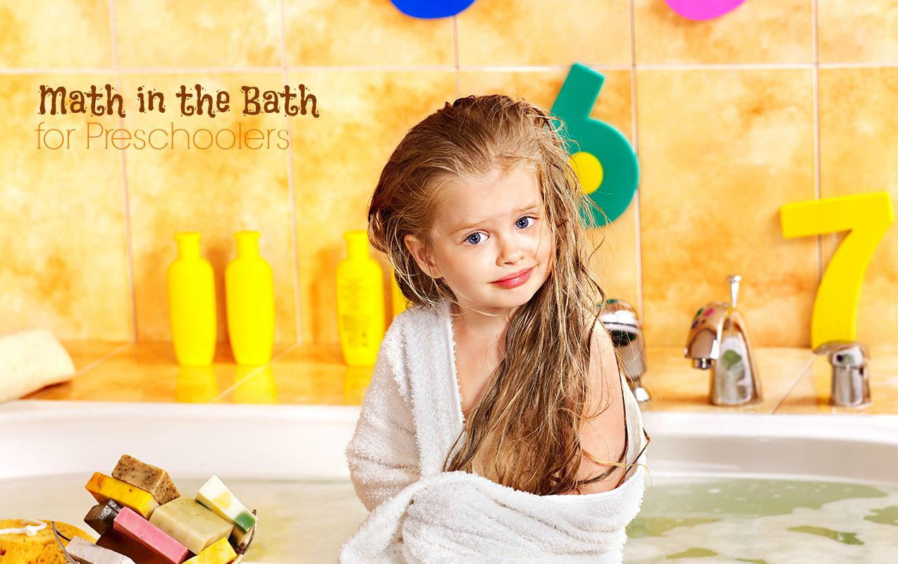 Common Core Math in the Bath Activities for Preschoolers