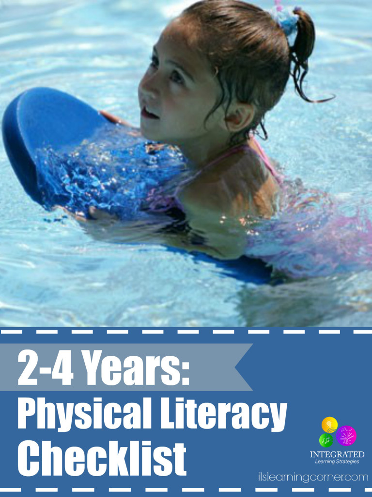 Physical literacy checklist: 2-4 years | ilslearningcorner.com