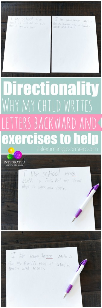 Directionality: Why Directionality and Writing Letters Backward is a Part of a Greater Problem | ilslearningcorner.com