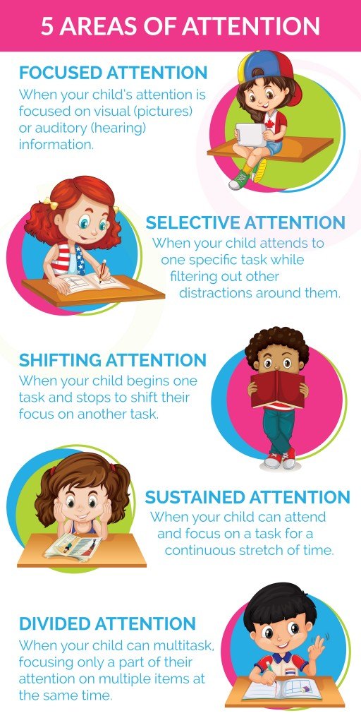 5 Areas of Attention: Is My Child Developmentally Ready for Sustained Attention, Focus and Multitasking | ilslearningcorner.com