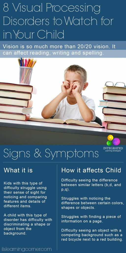 8 Visual Processing Disorders to Watch for in your Child   ilslearningcorner.com