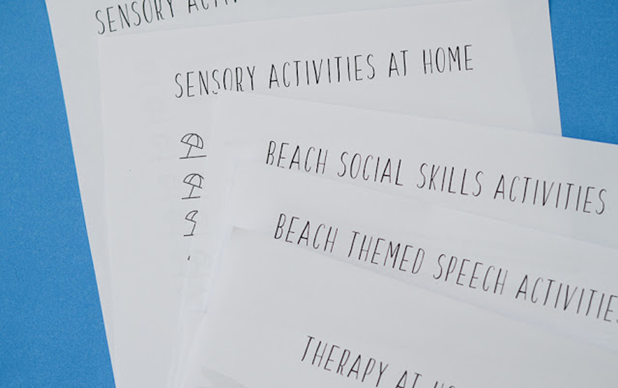 Using Beach Home Therapy Camp for Sensory Integration, Social Cues and Non-Verbal  Children