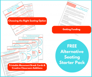 -Classroom Seating Options Free Printable -Classroom Seating Funding Free Printable -Creating an Active Classroom Free Printable