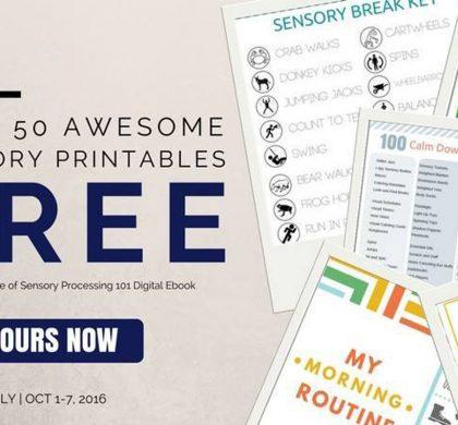 Sensory Processing: 50 Free Sensory Printables and New Sensory Processing 101