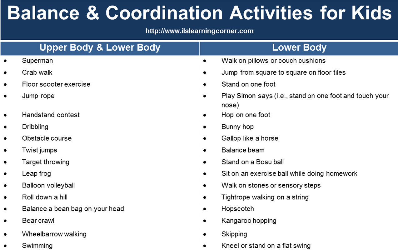 Balance and Coordination Activities for Attention and Focus