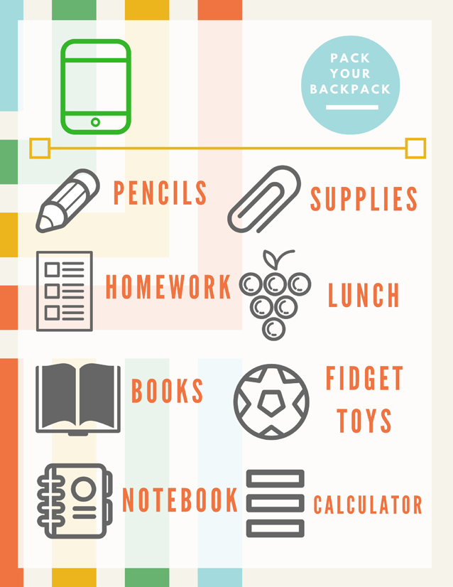 Executive Function: Visual Planning Charts for Unorganized Kids | ilslearningcorner.com