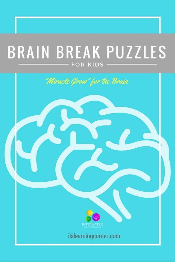 "Brain Breaks: Simple Brain Break Puzzles to ""Spark"" and Awaken the Brain for Higher Learning | ilslearningcorner.com"