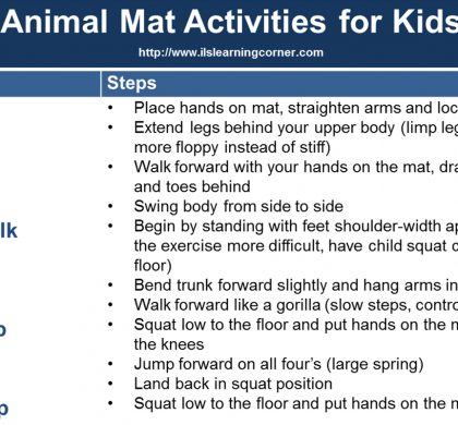 Mat Exercises: Brain-Building Animal Exercises for Gross Motor and Higher Learning