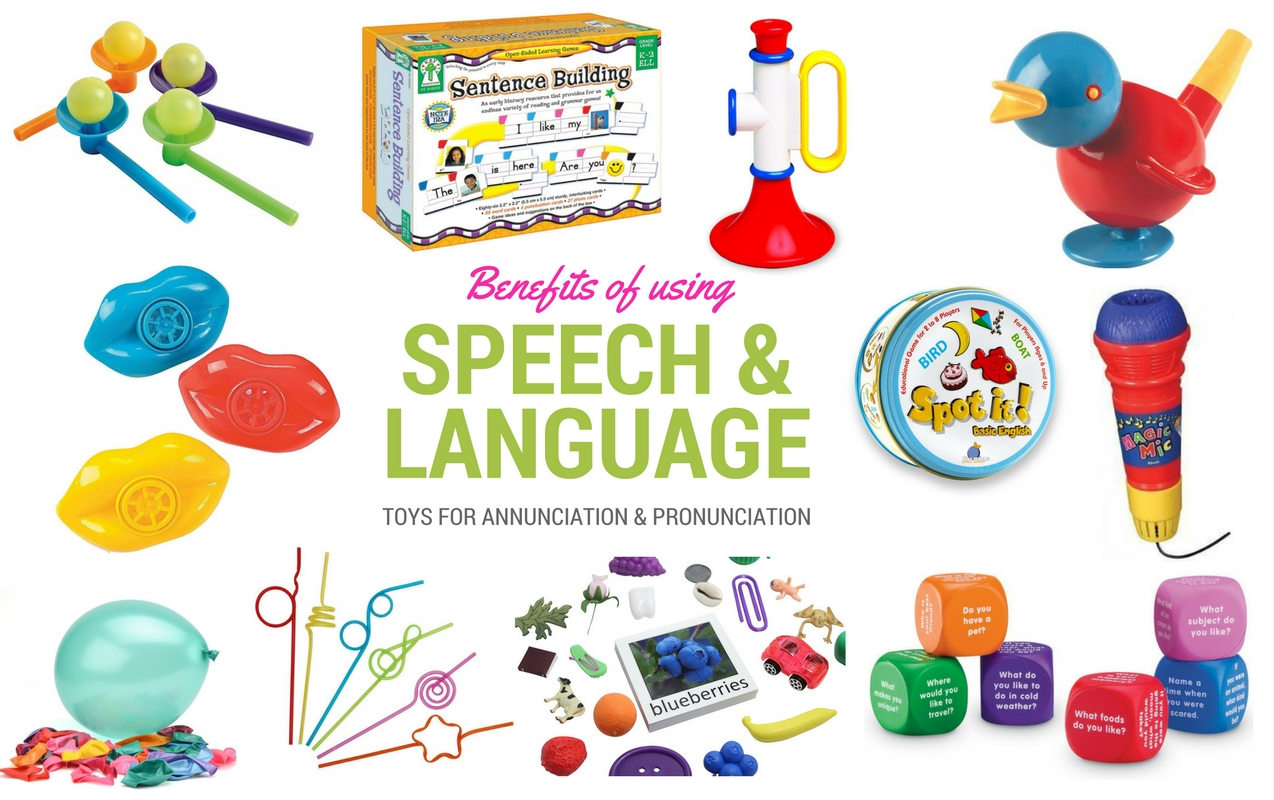Speech and Language Toys for Building Pronunciation, Articulation, Receptive and Expressive Language