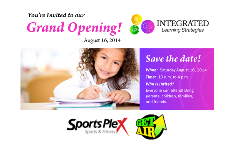 Save the Date! Integrated Learning Grand Opening Event