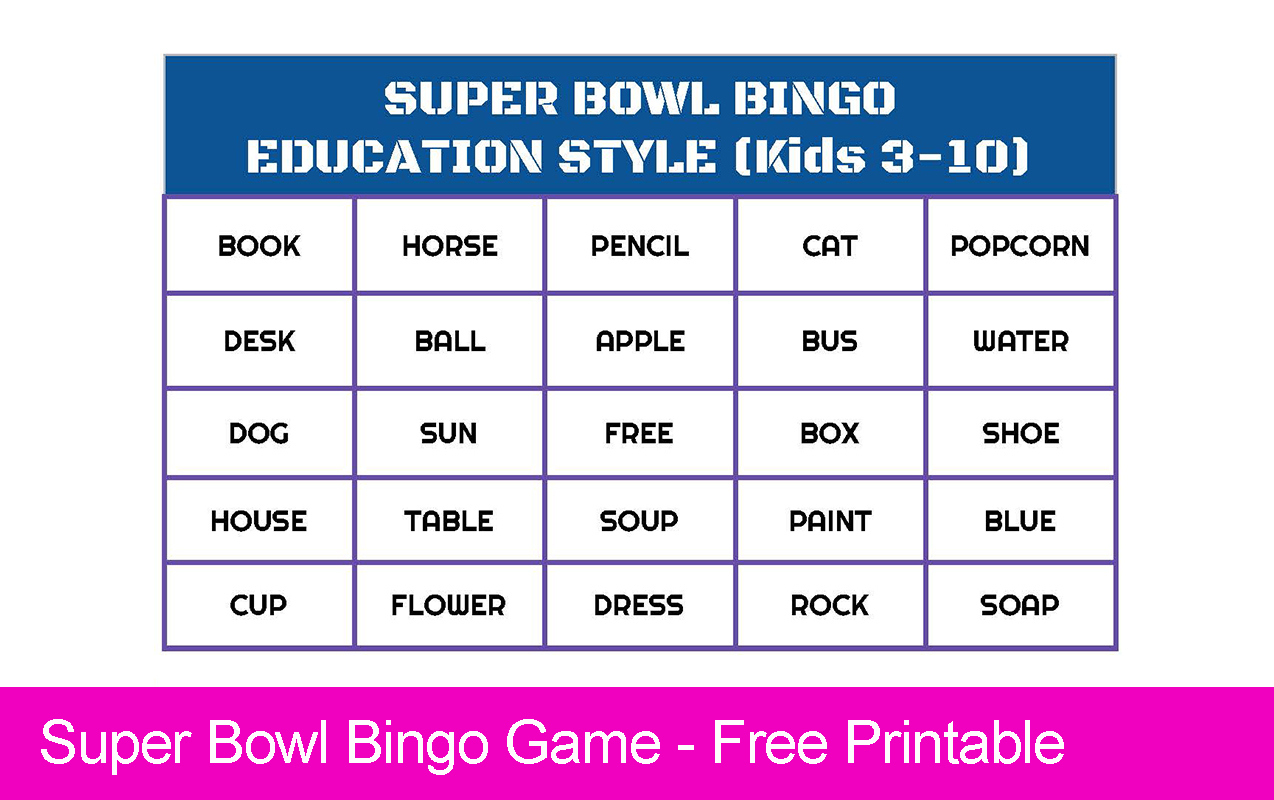Super Bowl Bingo – Free Printable