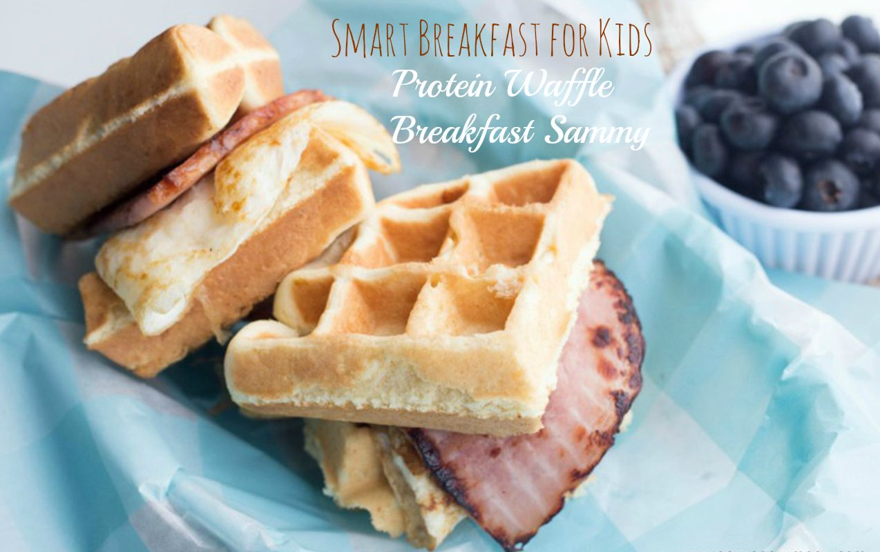 Smart Breakfast for Kids: Protein Waffle Breakfast Sammy