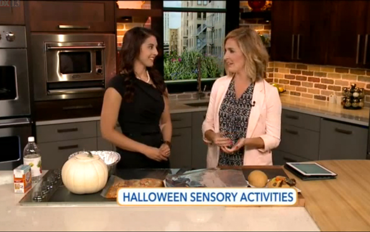 Halloween Sensory Activities on Fox 13's The Place
