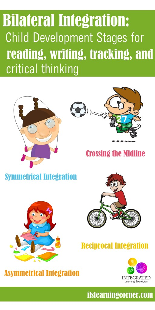 Bilateral Integration: Stages of Bilateral Integration for Reading, Tracking, Writing and Crossing the Midline | ilslearningcorner.com