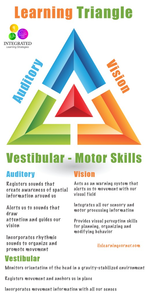 Learning Triangle: Without the Vestibular, Visual and Auditory Working Together, Learning Fails | ilslearningcorner.com