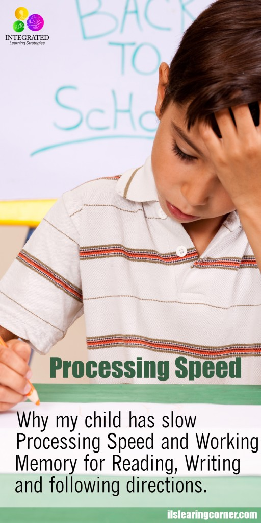 "Processing Speed: ""Mommy My Hand Won't Keep up with my Brain"" – Slow Processing & Working Memory 