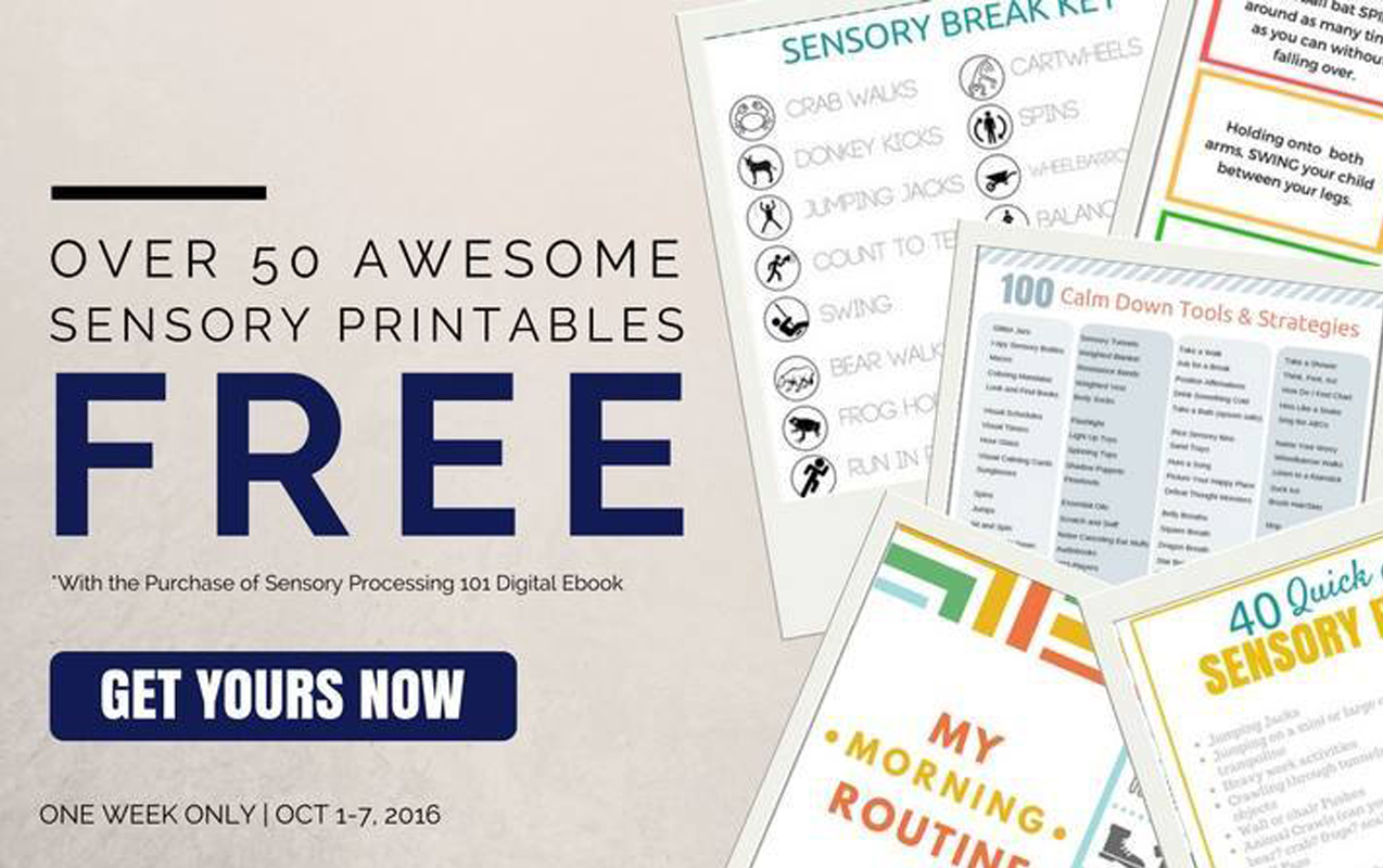 Sensory Processing: 50 Free Sensory Printables and New Sensory Processing 101