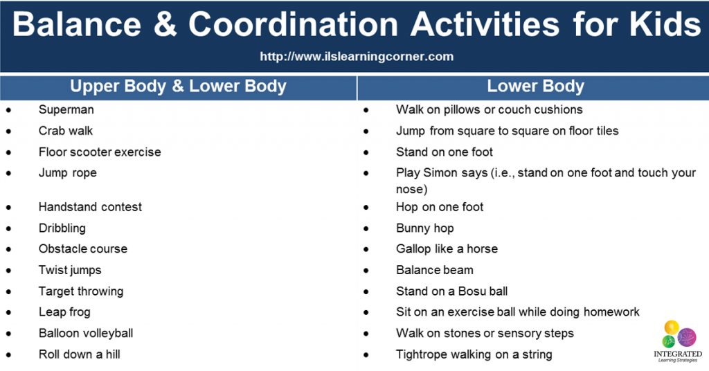 Balance and Coordination Activities for Attention and Focus | ilslearningcorner.com