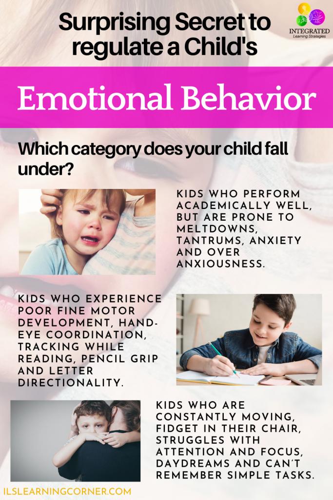 Surprising Secret to regulate a child's Emotional Behavior | ilslearningcorner.com