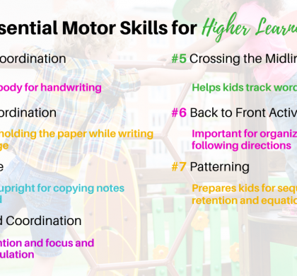 7 Essential Motor Skills needed for a Child to Reach Academic Success