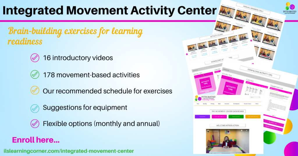Integrated Movement Activity Center for learning readiness | ilslearningcorner.com